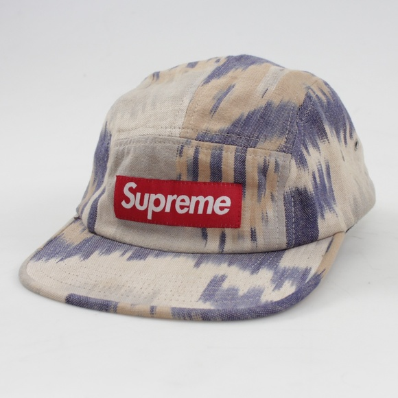 916474c4 Supreme Accessories | 2012 Ikat Tan Blue Camp Cap Billed Hat | Poshmark